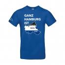 """T-Shirt """"Ganz Hamburg"""" royal"""