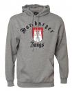 "Kapuzensweatshirt ""Classic Hamburg"" grau meliert"