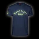 """T-Shirt Fluoreszierend """"Classic"""" navy"""
