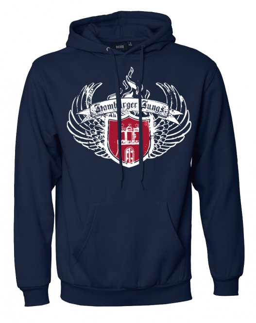 "Kapuzensweatshirt ""Wings"" navy"