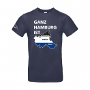 "T-Shirt ""Ganz Hamburg"" navy"
