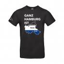 """T-Shirt """"Ganz Hamburg"""" schwarz"""