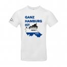 """T-Shirt """"Ganz Hamburg"""" weiß"""