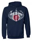 """Kapuzensweatshirt """"Wings"""" navy"""